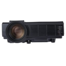 Wholesale Home Theater Projector Led Lamp - Wholesale-2016 Newest Black Led Lamp Projector POWERFUL Q5 Portable Home Theater 1000 Lumens 480 x 320 Pixels Multimedia HD LCD Projector