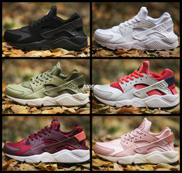 Wholesale Red I - New Air Huarache I Running Shoes For Men Women,Green White Black Rose Gold Sneakers Triple Huaraches 1 Runs Athletic huraches Sport Shoes