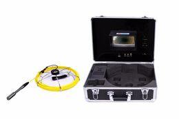 cabo de esgoto Desconto (1 conjunto) 30 M Cabo de 7 polegada Monitor de Cor Sistema de Canalização de Esgoto Câmera de Inspeção HD 1100TVL linha versão Night Endoscope Lens