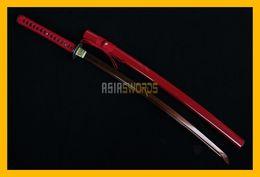 Wholesale Antique Japanese Swords - COLLECTION SWORD for decorate Full Tang 100% handmade Battle Ready T10 1095 Red Steel Japanese Dragon Samurai Katana Ninja Japan Sword #119