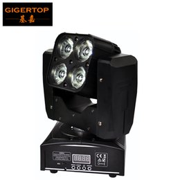 Wholesale American Dj Moving Head - Freeshipping Sample 60W Mini Led Moving Head Light 4 x 15W RGBW 4IN1 American DJ Equipment DMX 4 12CH Christmas Party Decoration TP-L665