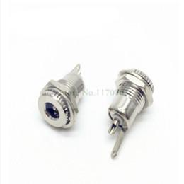 Pc power dc jack online-100 PCS 2.1mmx5.5mm DC Power Jack Socket Roscado Conector Hembra
