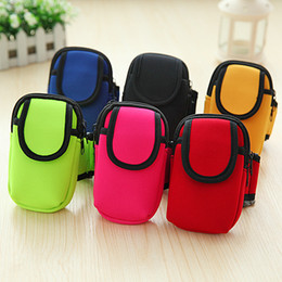Wholesale Arm Wallets - Promotional Gifts Armband Cycling Sports Running Wrist Pouch Mobile Cell Phone Arm Band Bags Case Handbag Child Wallet For iphone Xiaomi