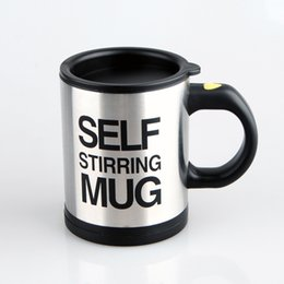 Wholesale Self Mug - Self Stirring Coffee Cup Hot Automatic Mixing Mugs Creative Hot Lazy Electric Coffees Mixer Multi Color Optional 8 8jj F