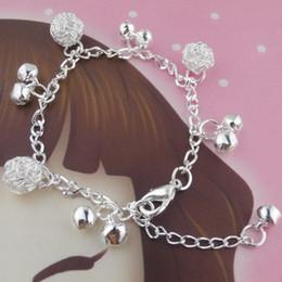 Bijoux de mode 925 Sterling Silver Jingle Bell Charmes Bracelets Bracelets Style National Chaîne Argent Bola Bell Bracelet Bracelet de cheville pour les femmes ? partir de fabricateur