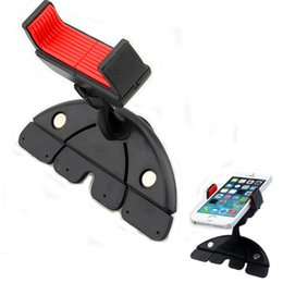 Wholesale Cell Phone Auto Mount - Wholesale- car A24 Cell Phones Car Auto CD Slot Dash Mount Holder Dock Mobile Phone For GPS MP3 For phone for Samsung GPS