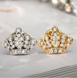 2019 magneti di fiori all'ingrosso New hot christmas pins Fashion Crystal Crown perni collare piccolo spille da uomo trasporto libero MOQ 50 pz