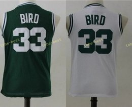 Wholesale New Jersey Drop Ship - youth #33 larry bird white green 2017 New Basketball Jerseys Free Drop Shipping 100% Stitched