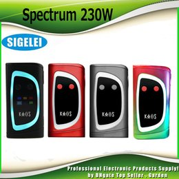 Wholesale led spectra - Original Sigelei Kaos Spectrum 230W TC Mod 0.96TFT Big Oled Display Vape Box Mods 6 Changeable LED Color Bar 230Watt 100% Genuine 2207041