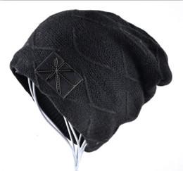 Wholesale Union Hats - 2016 Autumn And Winter beanies mens hats Union flag Casual Cap knitted hat bonnet plus velvet caps for men beanie