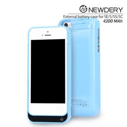 Wholesale Iphone 5c 5s Power Case - 4200mah External Charger Case Cover Back Pack Power Bank Case For iPhone 5 5s 5c SE Compatible Brand backup charging case