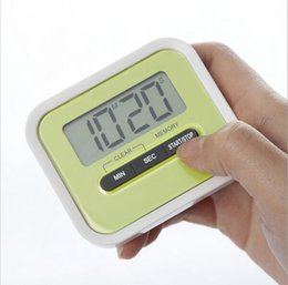 Wholesale Cooking Timer Alarm - LCD Digital Kitchen Countdown Timer Alarm Plastic Display Timer Clock Kitchen Timers Cooking Tools Accessories 300pcs OOA2074