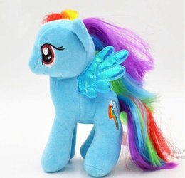 Wholesale Horse Plush Doll - 1pc 18cm minecraft my cute lovely little horse toy Plush toys poni Unicorn doll toys for Children Christmas Toys soft dolls