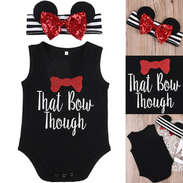 Wholesale Baby Minnie Mouse Romper - Baby Romper Toddler Clothing Kid Outfit Minnie Mouse Onesies Black Cotton Vest Ruffle Jumpsuit Roupas Leotards Boutique Girl Clothes