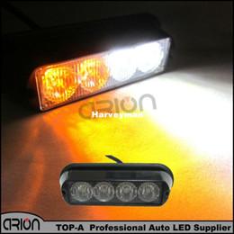 Argentina Más reciente 18 modos de luz de coche Advertencia EMS Police Strobe Flash Grill Luz de la lámpara Bomberos Emergencia 4W 4 LED 12-24V Ámbar / blanco Suministro