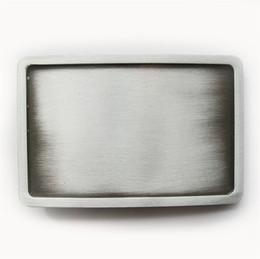 Classique New Antique Argent brossé Rectangle Boucle de ceinture vierge Boucle de ceinture personnalisé BOUCLE-BL004AS Brand New livraison gratuite ? partir de fabricateur