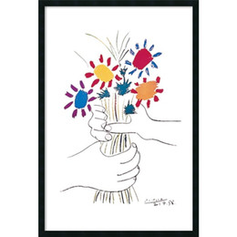 Wholesale Pablo Picasso Oil - Home decor diy projects crafts oil painting Bouquet Fleurs et Mains by Pablo Picasso decorating porch kitchen living dining study bed rooms