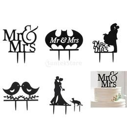 2020 bolo de casamento preto topper Atacado-SUNTEK Casamento Engagement Black Acrílico Cake Topper Bolo De Casamento Decoração Frete Grátis bolo de casamento preto topper barato