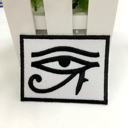 Wholesale Eye Backpack - eye of horus biker ref2 backpack embroidered Patch iron sew on badge