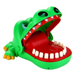 Wholesale Funny Mouths - Funny Trick Crocodile Dentist Bite Mouth Toys Cartoon Animal Novelty & Gag Biting Finger Game Toy With Key Chain for Kids Gift