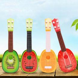 Wholesale Guitar Kid - Children Kids Learn Guitar Ukulele Creative Cute Mini Fruit Can Play Musical Instruments Toys Kids Educational Present