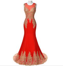 Diseño de vestido azul negro online-Nuevos vestidos de noche de la sirena del bordado del oro del diseño Vestidos de noche azules del cordón del negro Vestidos formales Vestidos largos del baile de fin de curso