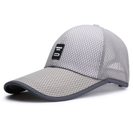 Wholesale Golf Mesh Hat - Fashion Six Colors Classic Mesh Baseketball Hats Mens womens Tennis Badminton Golf Cap Adjustable Baseball Caps