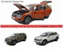 Wholesale Volkswagen Models - Brand New Alloy Diecast Modell Car For Volkswagen Tiguan L 2017 Gift Vehical Collection 3 colors Wholesale and Retail by PaudiModel