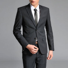 Wholesale Mens Sexy Jackets 3xl - Sell like hot cakes! New Mens Stylish Slim Fit Sexy Two Buttons Suits Jackets & Pants Black Strip