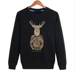 Wholesale T Shirt Advertising - Custom advertising shirt large size round neck long sleeve T-shirt casual men's head plus cashmere sweater MH009 Men's Hoodies Sweatshirts