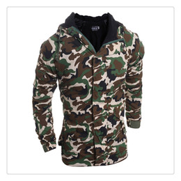 Wholesale Camouflage Winter Coats For Men - Cotton Jackets for Men 2017 Autumn&winter Camouflage Style Men's Sports&outdoor Cotton Jackets Coat US Size:XS-L