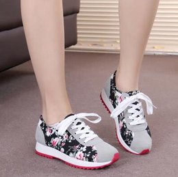 Wholesale Crust Rounding - 2016 famous brand spring summer autumn women's casual shoes, Korean version thick crust running shoes student shoes flat Floral shoes