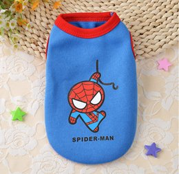 Wholesale Pet Dog Clothes Batman - Pet Batman Superman Spiderman Iron Man Costumes Vest Clothing For Small Dogs Cats Clothes The Avengers T Shirts