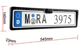 Wholesale Dvd Parking Sensor - European License plate car parking sensor PZ600L four sensors human voice Bibi sound alarm TFT DVD rearview mirror Free Chinapost epacket