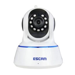 Wholesale Dome Card Camera - Escam QF002 HD 720P Mini P T Indoor Dome Infrared Wireless IP Camera Support 32G TF Card Motion Detection Onvif