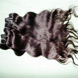 "Wholesale Cheap Full Brazilian Weave - 2017 Hot top Selling 5 6pcs lot 12''-28"" 100% Cheap Brazilian Human Hair Weft Natural color# 1B Soft wavy full Bundles"