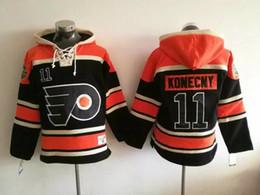 Wholesale Cheap Fleece Hoodies - #11 Konecny Flyers 2017 Stadium Series Premier Sports Hoodies Black Stitched Sports Hoodies Cheap Hockey Jacket Online Sports Hoodies