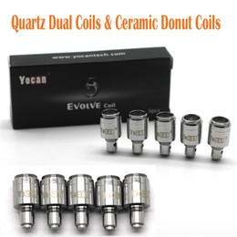 Yocan bobinas de substituição de alta qualidade para yocan evoluir plus kit qdc dual bobinas de rosca de cerâmica bobinas de quartzo frete grátis de