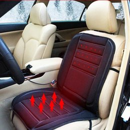 Wholesale Winter Car Seat Covers Cushions - Black Car Heated Seat Cushion Cover Auto 12V Heating Heater Warmer Pad Winter Seat Cover Temperature Control