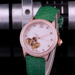 Wholesale Ladies Black Colour Watches - High quality fashion lady wrist watch Blue light brilliantly coloured glass imported full automatic multi-function mechanical movement BDFL