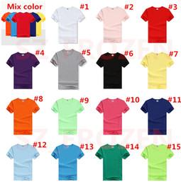 Wholesale Free Custom T Shirts - 2017 Pure color Cotton Custom Shirts Short Sleeve Children T Shirts Child Shirt Fashion Round Neck Shirts for Kids Clothing Free DHL A-0439
