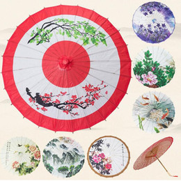 Wholesale Umbrellas China - Classic China Peony Wedding Decoration Craft Oiled Paper Umbrella Dancing Promotional Gift Sunshade Cosplay Props ZA2986