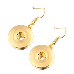 snap buttons 12mm gold Coupons - Fashion Gold  Silver 12mm 18mm Metal Snap Button Earrings French Hook fashion DIY Noosa Chunks Ginger Snaps Earrings jewelry women ZI082