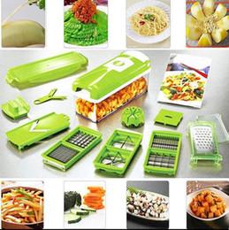 Wholesale Vegetable Cuts - 12 In 1 Vegetable Fruit Nicer Slicer Plus Chopper Cutter Peeler Vegetable Fruit Graters Peeler Cutter Slicer Cutting Kitchen Tool KKA2262