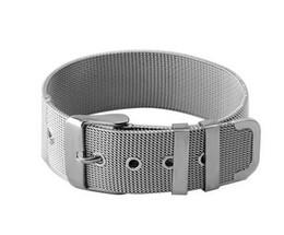Wholesale Man Woman Watches Sets - Wholesale-Women Men Stainless Steel Mesh Bangle Bracelet Watch Strap Silver