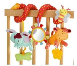 Wholesale bell seats - Wholesale- baby music hanging bed safety seat plush toy Hand Bell Multifunctional Plush Toy Stroller Mobile
