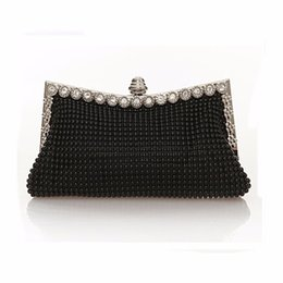 Wholesale Austrian Diamond - Wholesale-Hot Women Evening Wedding Bag Austrian Diamond Aluminium Female Shinestone Banquet Wedding Party Lady Beaded Prom Clutch Bags