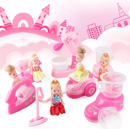 Wholesale Small Mini Vacuum - Mini Simulation vacuum cleaner electric small house appliances with barbie toys for kid lovely classic toy the best gift for children