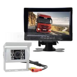 Wholesale Bus Lcd - 7inch TFT LCD Display Rear View Car Monitor Waterproof IR CCD Night Vision Rear View Car Camera for Trucks Caravans Bus Van