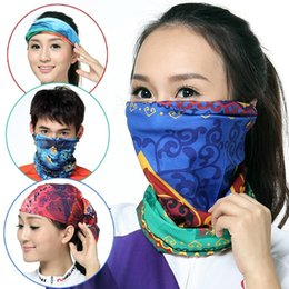 Wholesale Face Mask Bandana Neck - Wholesale- Magic Head Face Mask Snood Bandana Neck Riding Warmer Wrap Shawl Magic Scarf Stole For Women Men Unisex